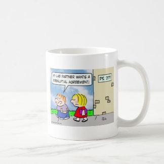 Kid's lab partner wants prenuptial agreement coffee mug