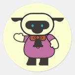 Kids Lamb T Shirts and Gifts Classic Round Sticker