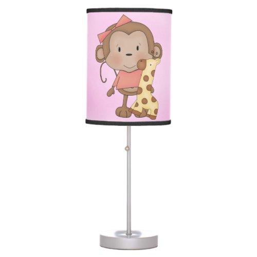 Kid's Lamp Cute Baby Girl Monkey