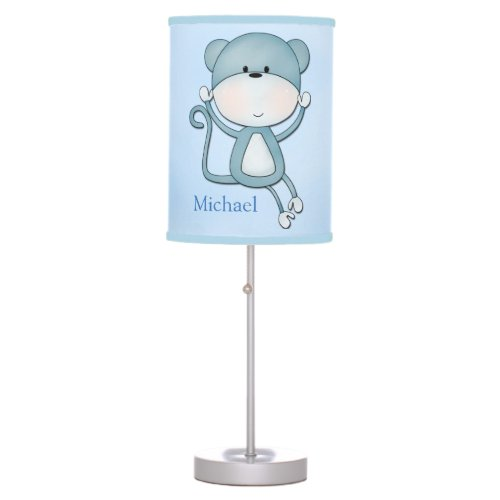Kid's Lamp Cute Blue Monkey