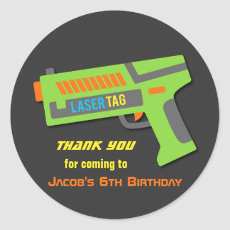 Kids Laser Tag Birthday Party Favor Stickers