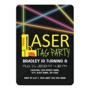 89c6902e0682 Kids Laser Tag Birthday Party Invitation