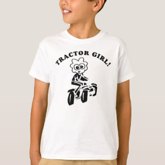 KIDS LAWN TRACTOR (TRACTOR PULL) GIRL T-SHIRT