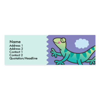 Kids Leaping Lizard Skinny Profile Cards Double-Sided Mini Business Cards (Pack Of 20)