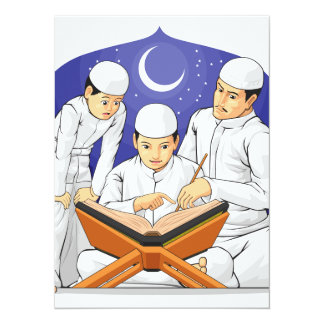 Kids Learn to Read Al-Quran with Their Parent Card