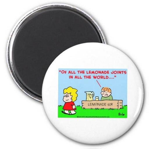 kids, lemonade, casablanca 2 inch round magnet