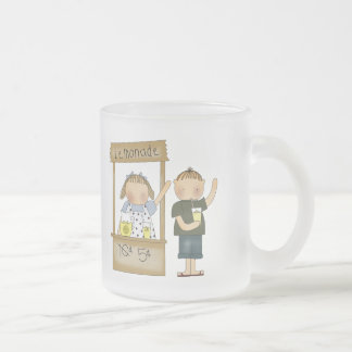 Kids Lemonade Stand T Shirts and Kids Gifts Frosted Glass Coffee Mug