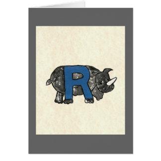 KIDS LETTER R CARD