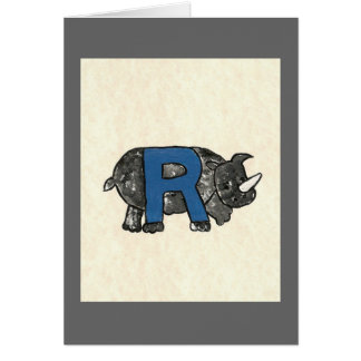 KIDS LETTER R GREETING CARD