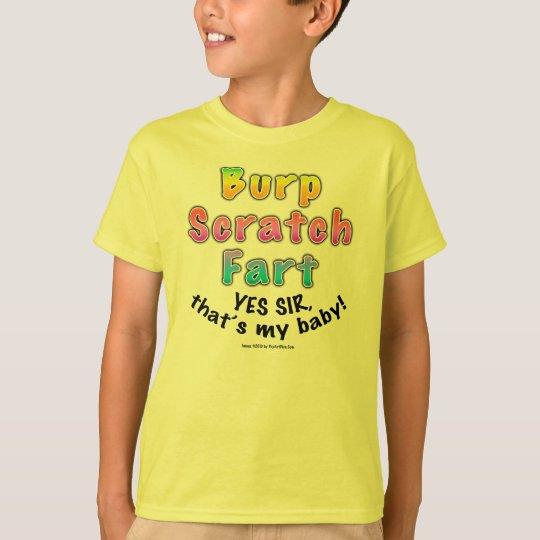 Kids Light T-shirts - Burp Scratch Fart