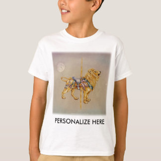 Kid's Light Tees - Carousel Lion SQ