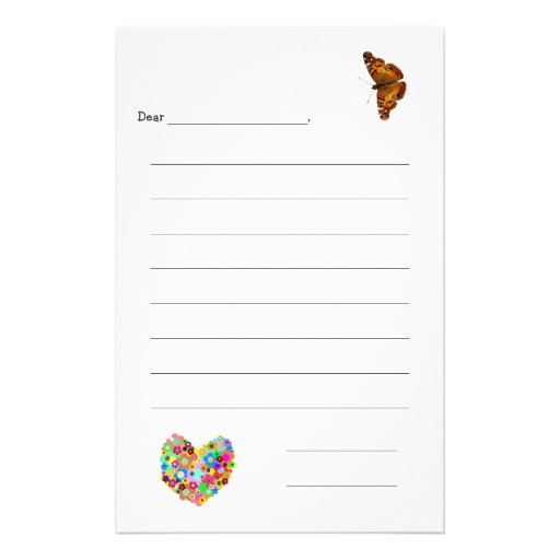 Kid's Lined Note Paper Personalized Stationery