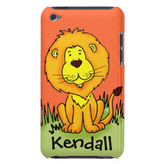 "Kids lion ""your name"" protection ipod touch case"