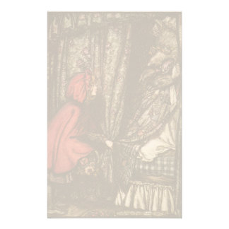 Kids Little Red Riding Hood Fairy Tale Stationery