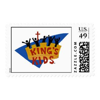 Kids Logo Postage de rey Sello