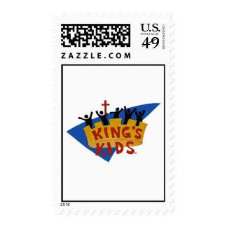 Kids Logo Postage de rey Sellos