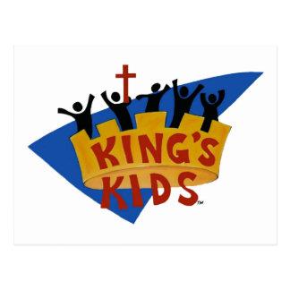 Kids Logo Postcard de rey Tarjeta Postal
