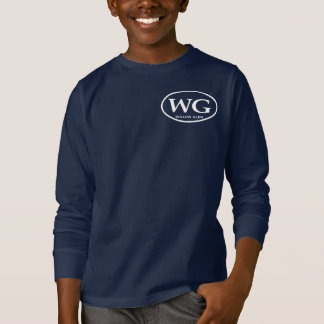 Kids Long Sleeve Navy WG T-shirt