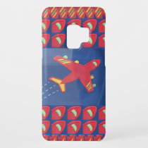 Kids Love Aeroplane Aircraft Flight Travel Holiday Case-Mate Samsung Galaxy S9 Case