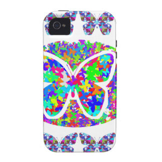 KIDS love Butterflies - Happy Christmas n New Year Case-Mate iPhone 4 Cases