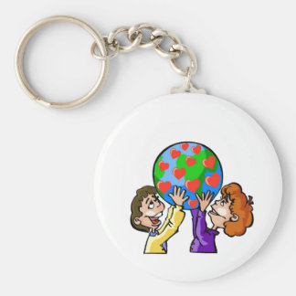 Kids Love Earth Day Keychain