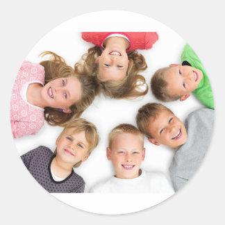 Kids Love Etiquette Classic Round Sticker