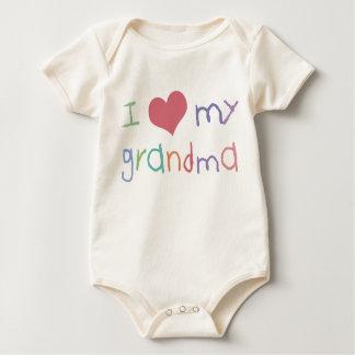 Kids Love Grandma Organic Infant /Creeper Bodysuits