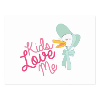 Kids Love Me Postcard