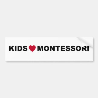 Kids Love Montessori Bumper Sticker