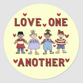 Kids Love One Another T-shirts and Gifts Classic Round Sticker