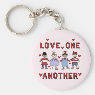 Kids Love One Another T-shirts and Gifts Keychain