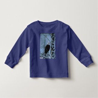 Kids LS T / Bald Eagle in Winter Snow Tee Shirt