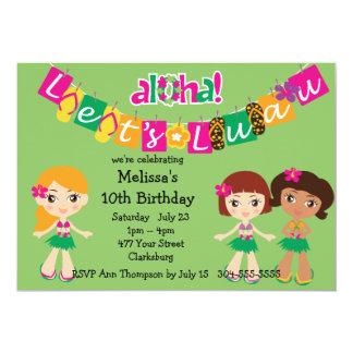 Kids Luau 5x7 Paper Invitation Card