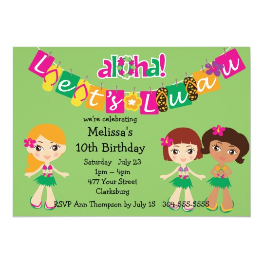 Kids luau invitation zazzle kids luau invitation filmwisefo