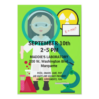 Kids Mad Scientist Science Lab Birthday Invitation
