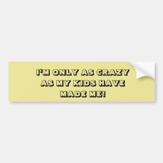 KIDS MADE ME CRAZY bumper sticker