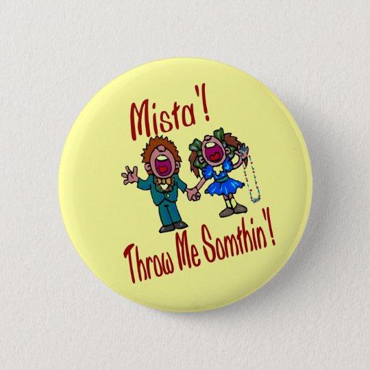 Kids Mardi Gras, Beads Pinback Button