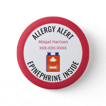 Kids Medical Alert Allergy Epinephrine Inside Button