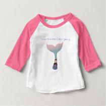 Kids Mermaid Tshirt. Baby T-Shirt