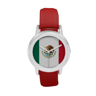 Kids' Mexican Flag Watch (Red Stainless)