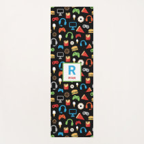 Kids Monogrammed Video Game Tech Party Gamer Yoga Mat
