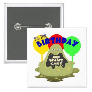Kids Monster Birthday Button