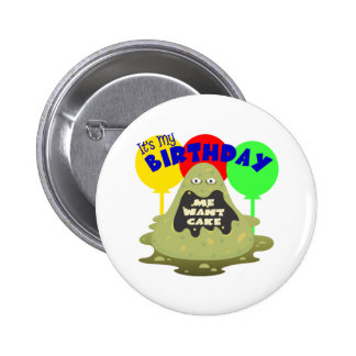 Kids Monster Birthday Pinback Buttons
