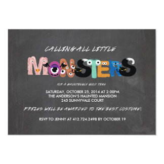 Kids Monster Halloween Party Invitation