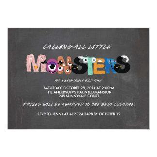 Kids Monster Halloween Party Invitation