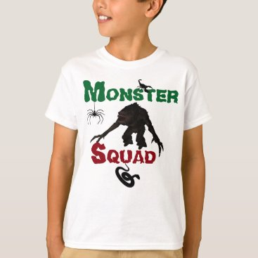 Halloween Themed Kids Monster Squad T-Shirt