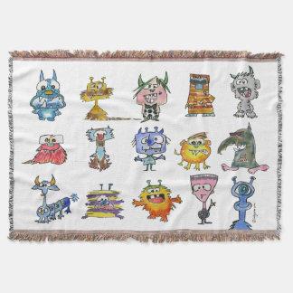 Kids Monsters Throw Blanket