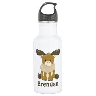 Kids Moose Stainless Steel Water Bottle