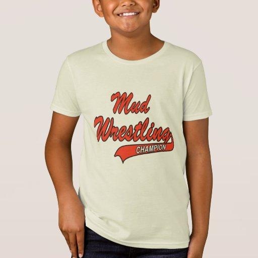 Kid's Mud Wrestling Champion T-Shirt