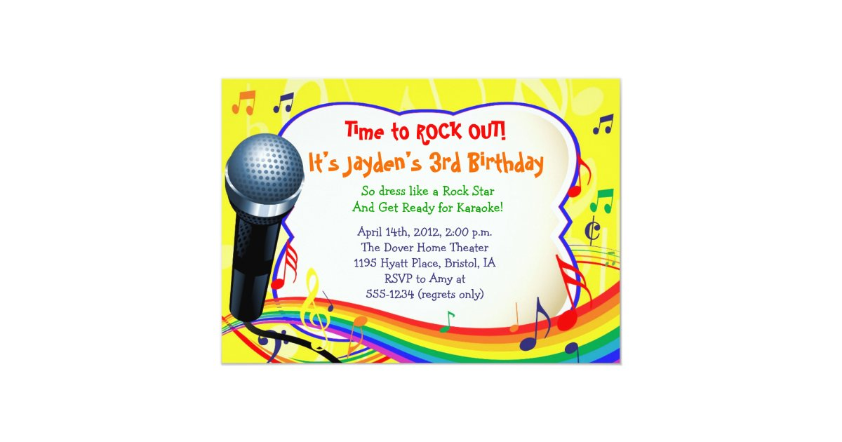 Karaoke Invitations & Announcements | Zazzle